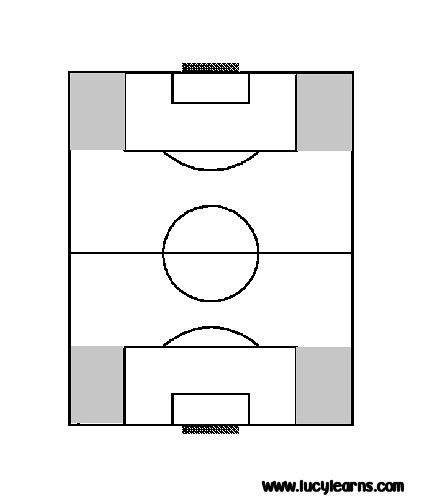 Football Pitch Outline Template a4 Football Pitch Template