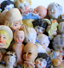 Victorian/Edwardian doll heads (AlliesAdornments) Tags: china dolls faces victorian bisque creepy german heads dollheads porcelain edwardian dollparts