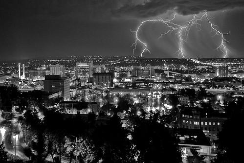 Lightning Over Spokane