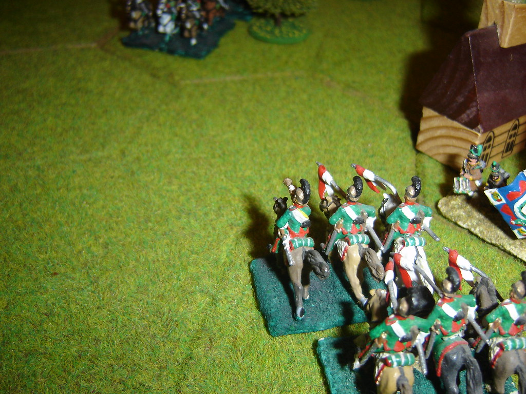 French lancers destroy battery at Limale
