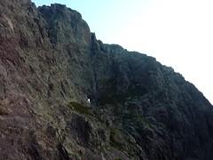 Depuis le bivouac de Campu di Vetta : tombée du jour sur le versant Ghjarghjole/Silvastriccia