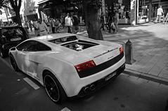 Lamborghini LP560-4 (Yori Photography) Tags: bw white black color germany jeroen nikon lp 17 dusseldorf 1770 yori 70 lamborghini gallardo selective 560 d90 5604 buitenhuis langhenkel