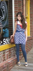 sailor polka dot drop waist (bloomingleopold) Tags: blue red white vintage dress urbanoutfitters sailor etsy polkadot dropwaist bloomingleopold