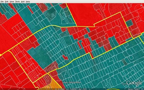 Circonscription de Papineau - carte des résultats électoraux aux fédérales 2008