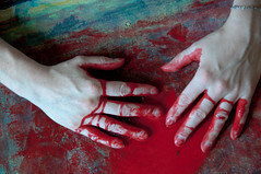 Les mains sales-46 (metatong) Tags: red color painting rouge blood hands acrylic hand main peinture killer murder dexter sang mains guilty murderer coupable acrylique tueur d300 redpaint meurtre meurtrier peinturerouge