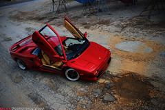 SV (Derek Walker Photo (Derk Photography)) Tags: road above new york red ny up car yard island photo nikon long shoot doors angle yacht maroon exotic diablo lamborghini supercar sv spotting gravel derk d80