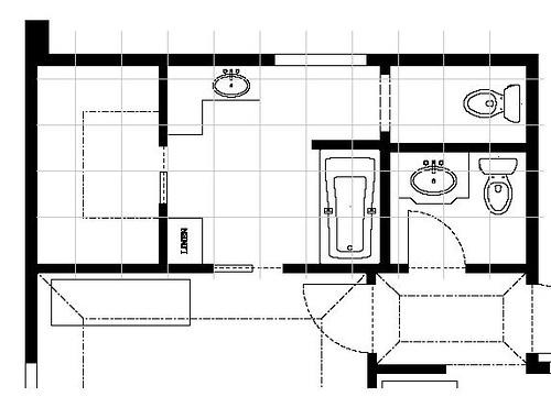 5x7 Bathroom Layout