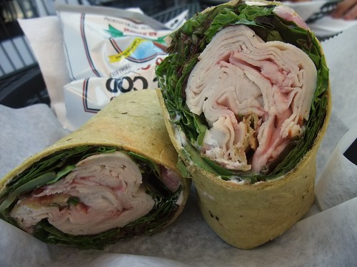 Turkey Goat Cheese Wrap from Cafe Corner