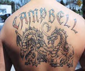 tatuagem na costa