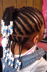 After! She's braided! The children's styles are my pride and joy. I love 'em!! Don't forget the beads...Love the metallic silver beads! (mrsjehaan) Tags: black hair beads longhair bob twist shorthair ponytail braids naturalhair weave coils extensions locs shreds afropuff nappyhair crimps dreadlocs microbraids kinkytwist blackhairstyles combtwist scalpbraids