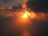 Fuoco di nuvole (aletombiondo) Tags: sunset sea tramonto nuvole mare ombre orizzonte