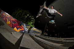 Scott - Casper Flip  **Explored** (JC.Photography) Tags: bus slr station stairs canon james board flash skating swindon fisheye scot same skate skateboard skater milton keynes 8mm mk mcnab peleng skyport elinchrom speedlite branny 430ex strobist 40d clifforde branstatter