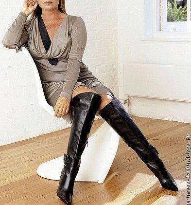 Фото в ботфортах женщины
