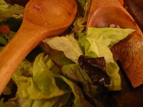 Salad remnants
