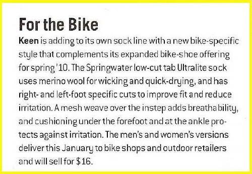 footwear news september 21 issue - springwater low cut sock
