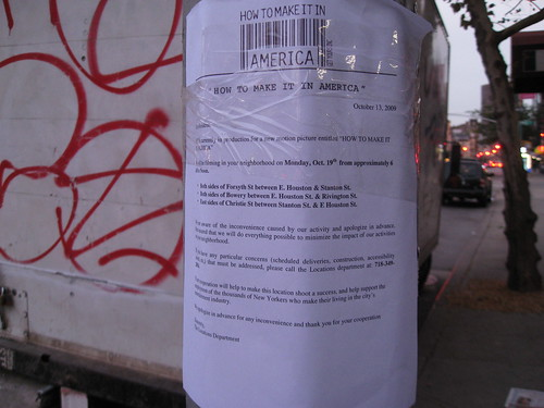 Filming Update: How to Make it in America Returns to Bowery