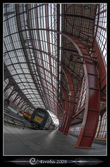 Antwerp Central Station :: Fisheye (Erroba) Tags: glass metal train photoshop canon rebel belgium belgique tripod tracks belgi sigma railway fisheye tips remote antwerp centraalstation publictransport 1020mm erlend hdr antwerpen anvers oldnew cs3 3xp photomatix tonemapped tonemapping xti 400d erroba robaye erlendrobaye