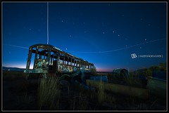 195 Seconds Later - and one more (|sumsion|) Tags: longexposure usa stars graffiti utah nikon october jets tripod ufo greatsaltlake railcar 2009 startrails gsl saltair d90 sumsion nikond90 sumsioncom ovfe