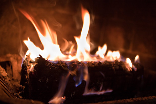 A log on the fire