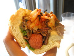 Kimchi Bulgogi Hotdog Crosswise