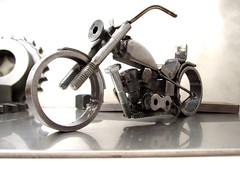 Tig Welded Sculpture Harley Davidson 1991 Custom Softail (3)