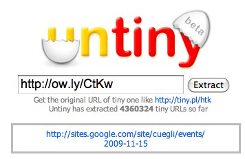 Untiny - Extract full website addressed from a shortened URL