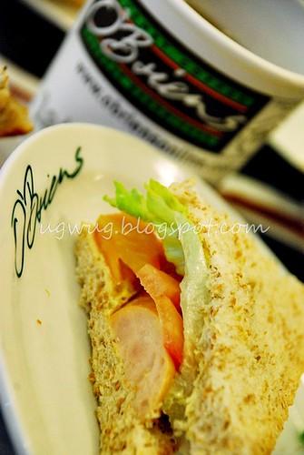 Chicken Sausage sandwich