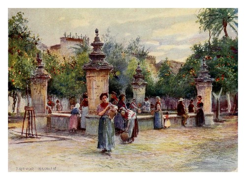 020-Córdoba-Patio de los Naranjos-Southern Spain 1908- Trevor Haddon