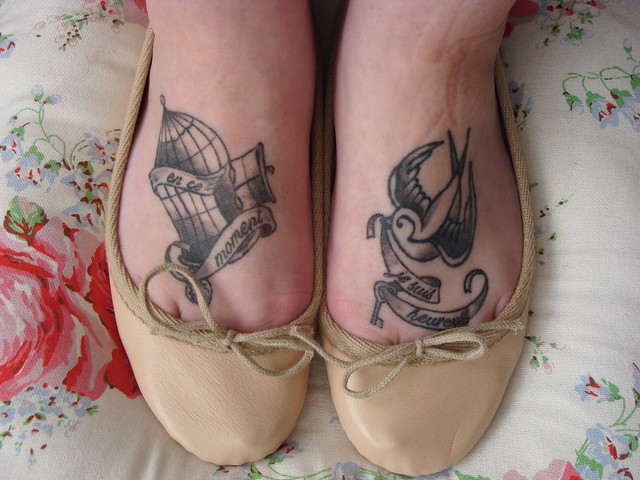 Foot tattoo's by Matty at Hepcat Tattoo's Glasgow. www.cupcakecouture.co.uk