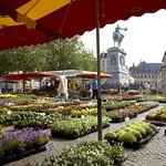 Luxembourg-centre : Marché sur la place Guillaume II