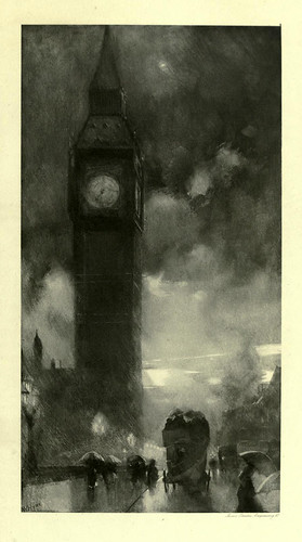 012-La torre del reloj en Wesminster-London impressions 1898- William Hyde