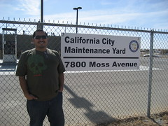 James at the California City maintenance yard. (11/07/2009)