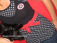 Refashion - skull & Polka dot top