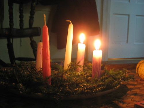 Our homemade Advent wreath