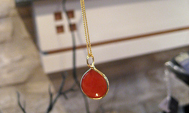 Carnelian and Gold Filled Necklace