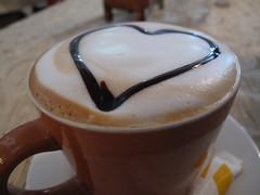 A Cup of Coffee - Café Latté, Croissant d'Or, Vientiane, Laos