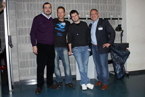 Uccio e Psicomanpte con Matteo e Michele al DrupalCamp di crema 2009