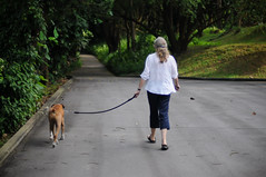 Woman and her Dog (massrapid) Tags: singapore 50mm14 d300 hortpark