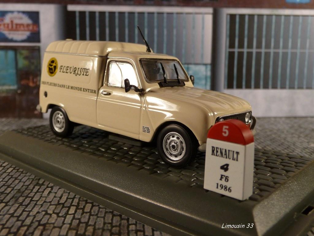 RENAULT 4 F6 interflora 1986 fleuriste 1//43 voiture 4L