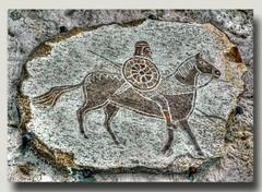 WARRIORS (NIKONHEART) Tags: art stone stones sculture pietra hdr guerriero bassorilievo news2009