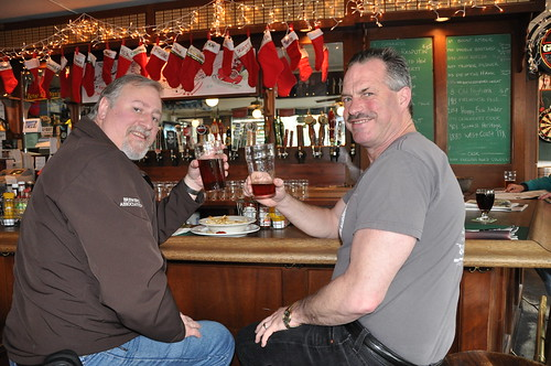 Bruce Paton & I drink the first beer of the day