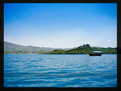 Khanpur (A_sad) Tags: blue pakistan mountains tree green water boat stream punjab nwfp lahore islamabad isb khanpur