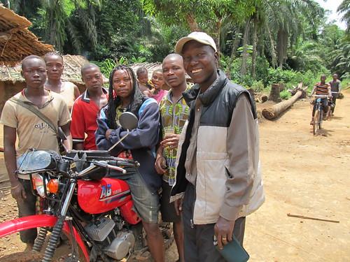 Dino with Lomanga (on our motorbike)