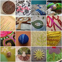 Woolgathering - Chain Stitch (juliezryan) Tags: embroidery favorites mosiac chainstitch