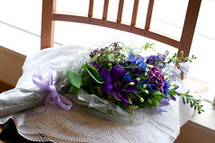May -2011 (kirschbrunnen) Tags: blue iris flower green nikon purple thistle clematis violet veronica lilac bouquet campanula allium cornflower larkspur scabious nigella d300     nikkor50mmf14   bluebaby     japanesebellflower          delphonium  catnterburybells