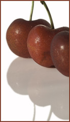 Chilled Cherries on a Hot Day (Julie Frances Photography) Tags: red white reflection berry cherries flickr gallery award m ii trio netart friut wow1 wow2 wow3 wow4 polestar wow5 nikond300 mygearandme mygearandmepremium mygearandmebronze ringofexcellence