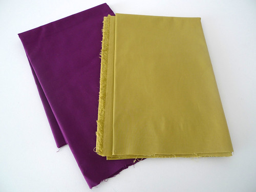 purple and green fabric