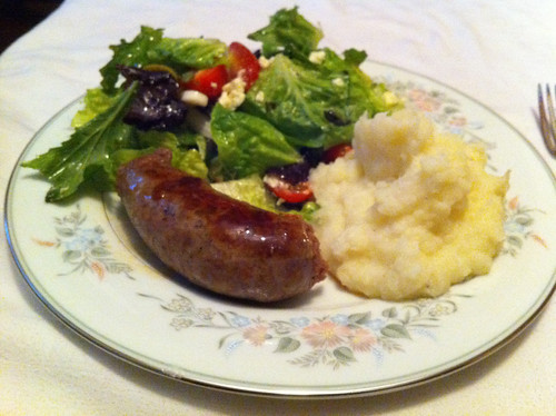 Merguez and Mash