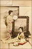 Girls at Home (ookami_dou) Tags: vintage japan geisha handcolored handtinted 日本 芸者 kusakabekimbei 日下部金幣 fan