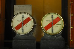 "Track circuit indicators in ""Midford Signalbox"", Washford, West Somerset Railway"